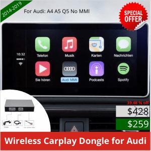 2014-2019 Dongle sans fil CarPlay pour Audi