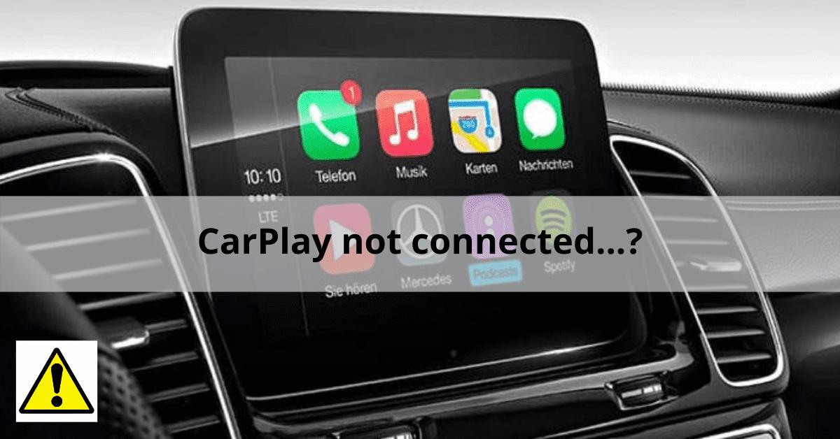 Problèmes dans CarPlay et solutions et conseils pour un fonctionnement à 100%.