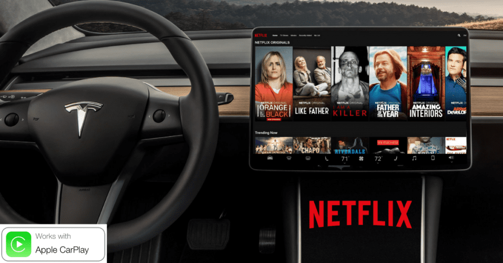 Regarder des films, des séries télévisées et des films dramatiques en voiture
